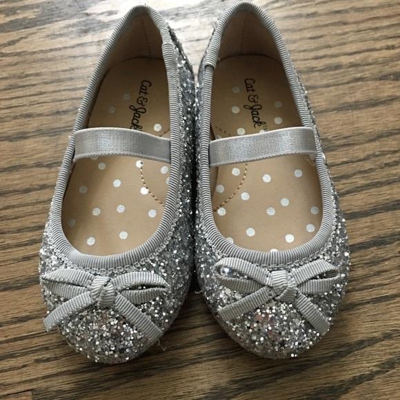 Toddler Girls Silver Glitter Ballet